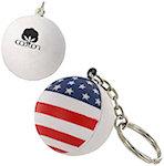 Patriotic Stress Ball Key Chain Stress Balls